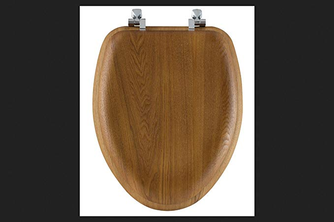 Bemis Elongated Toilet Seat Elongated Oak Chrome Hinges Review